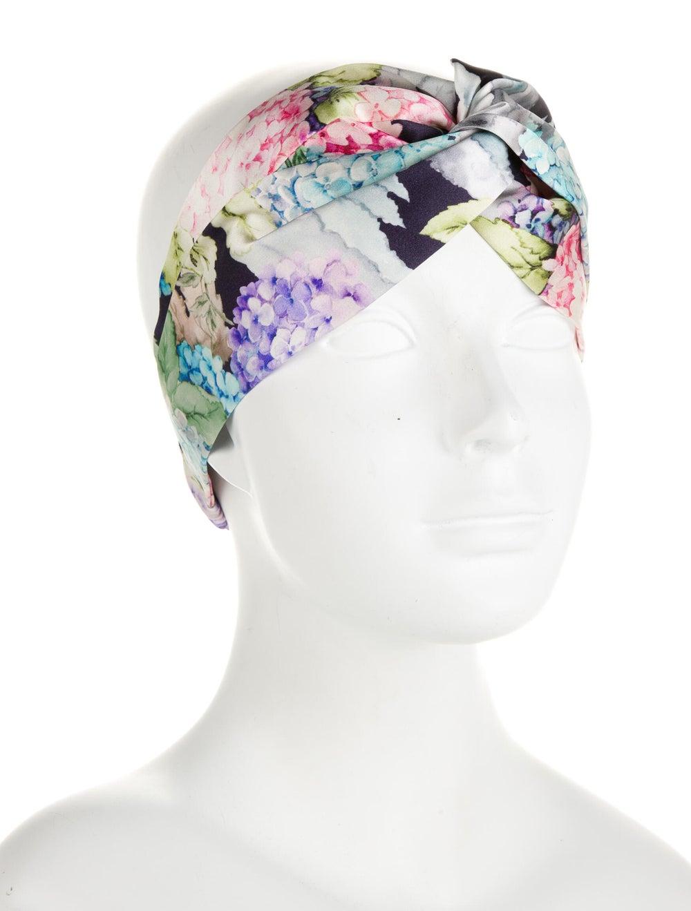 Gucci Floral Silk Headband Purple - image 3