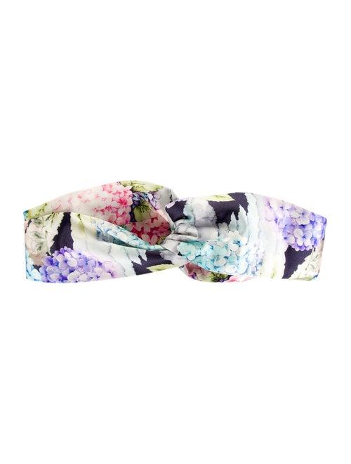 Gucci Floral Silk Headband Purple
