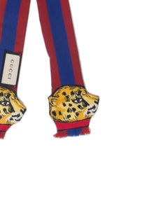 Gucci Long Tiger Web Silk Scarf w/ Tags