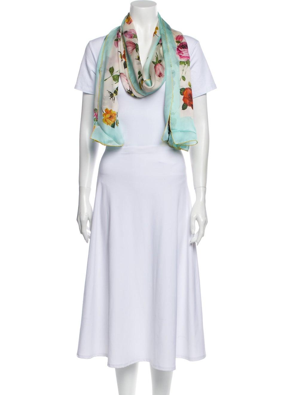 Gucci Silk Floral Print Scarf w/ Tags - image 3