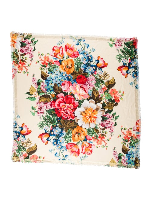Gucci Wool Floral Scarf w/ Tags multicolor - image 1