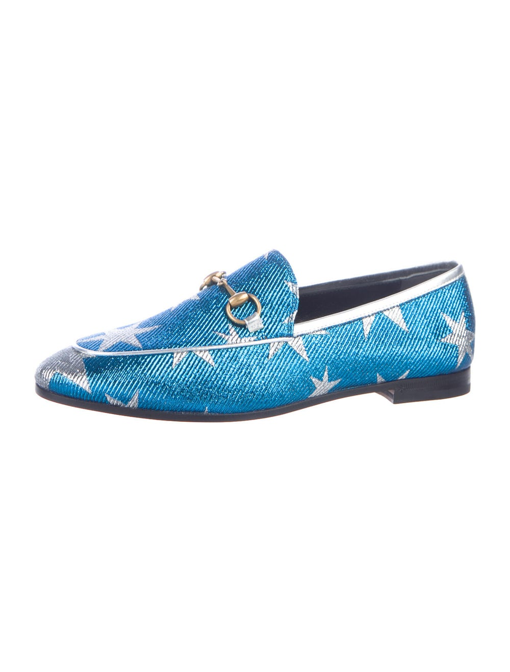 Gucci Horsebit Accent Patterned Loafers w/ Tags B… - image 2