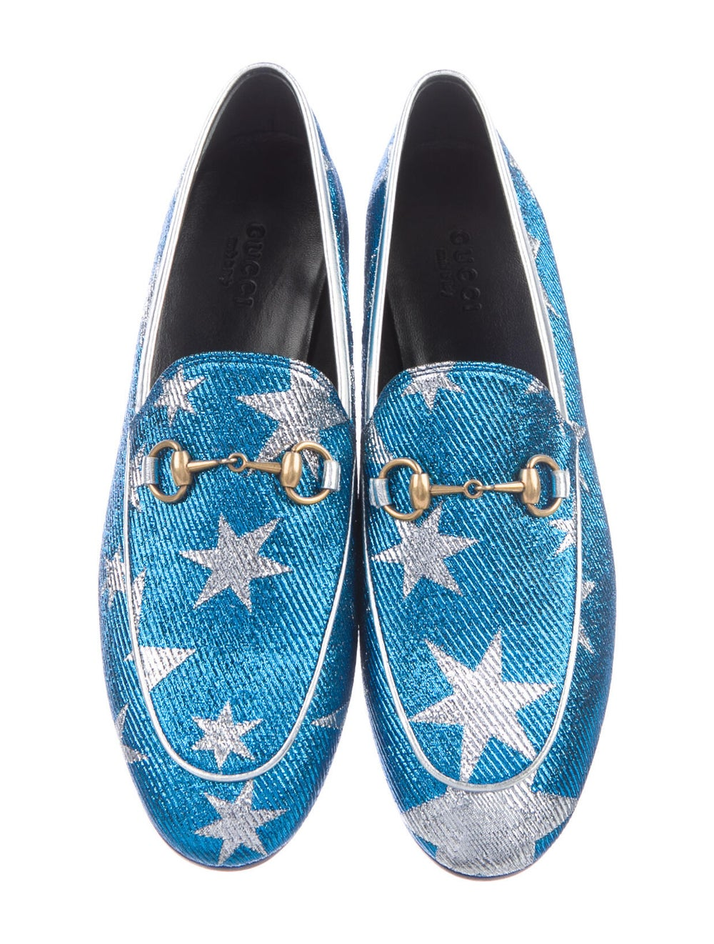 Gucci Horsebit Accent Patterned Loafers w/ Tags B… - image 3