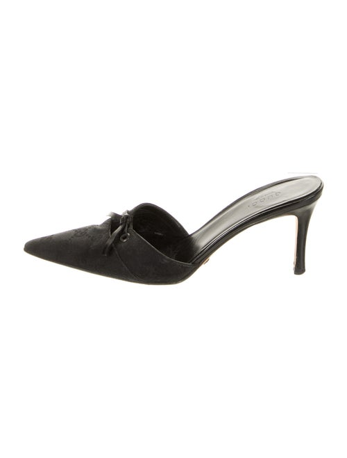 Gucci GG Canvas Keyhole Accent Mules Black - image 1