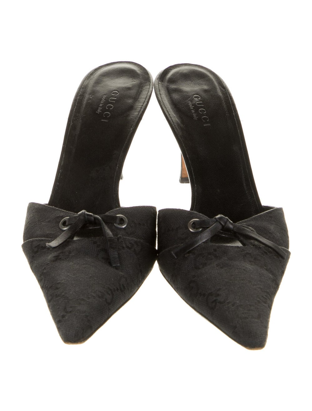 Gucci GG Canvas Keyhole Accent Mules Black - image 3