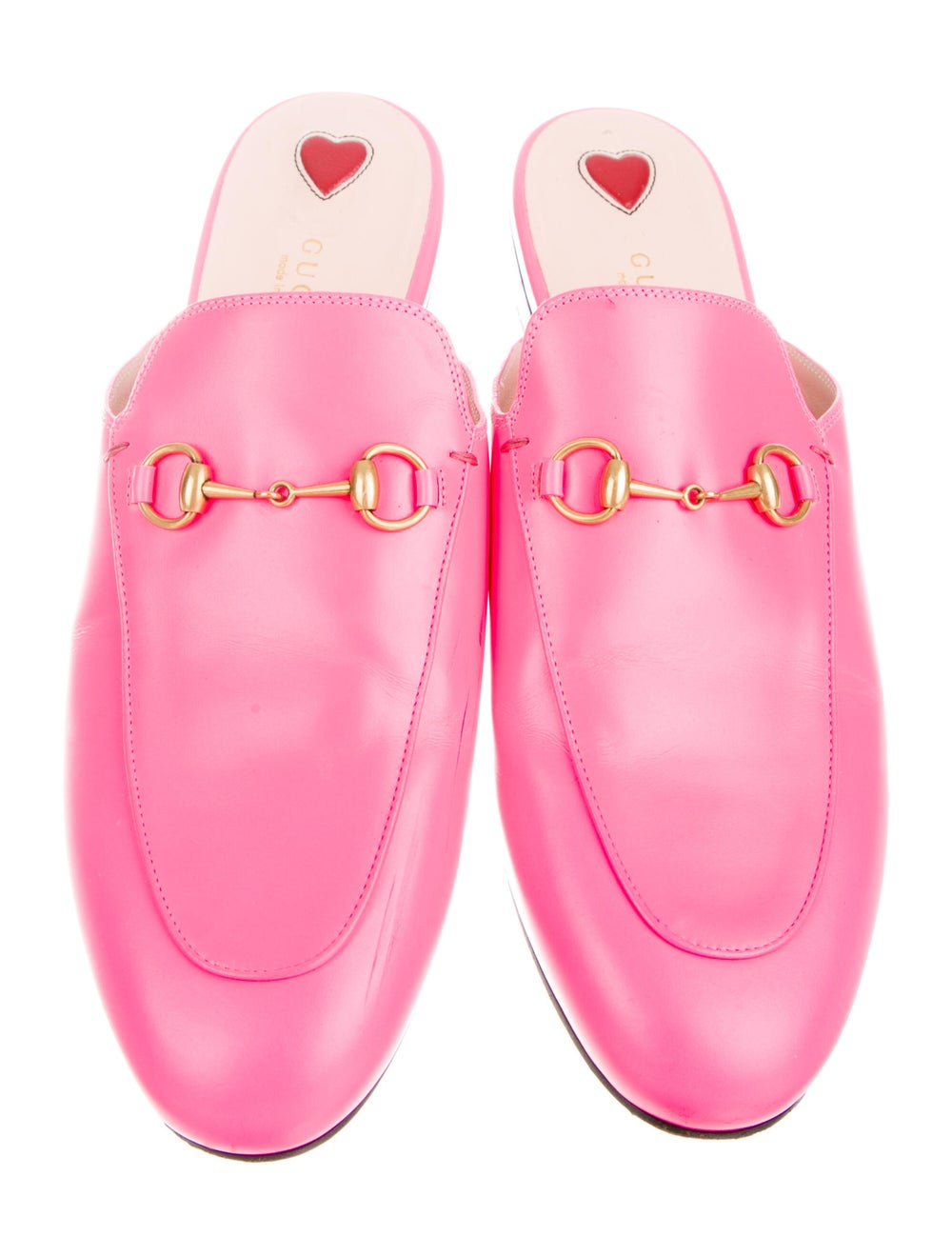 Gucci Princetown Horsebit Accent Mules Pink - image 3