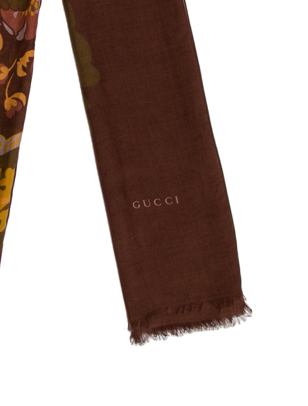 Gucci Livia Floral Print Scarf w/ Tags Brown - image 2