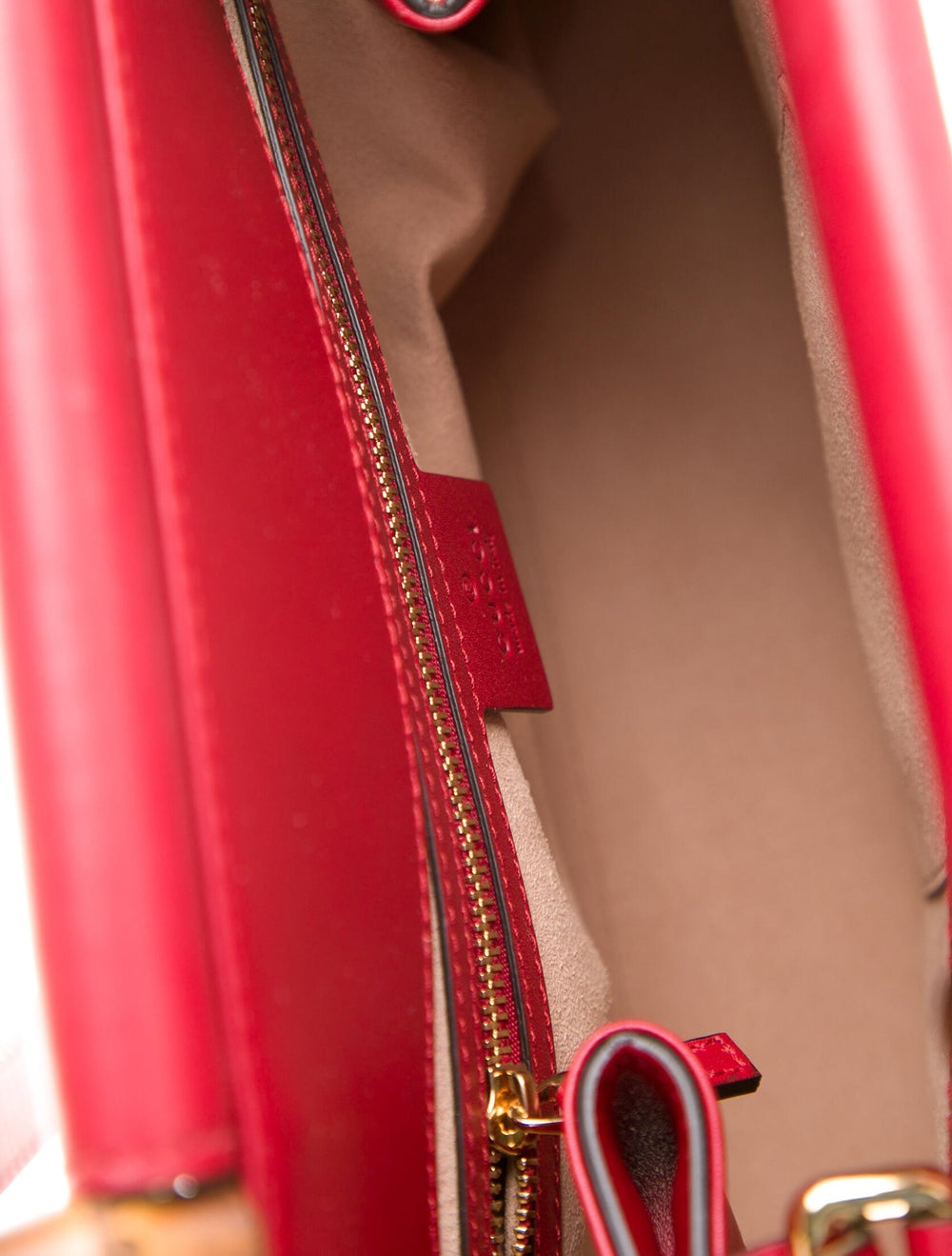 Gucci Small Nymphaea Bamboo Handle Bag Red - image 5