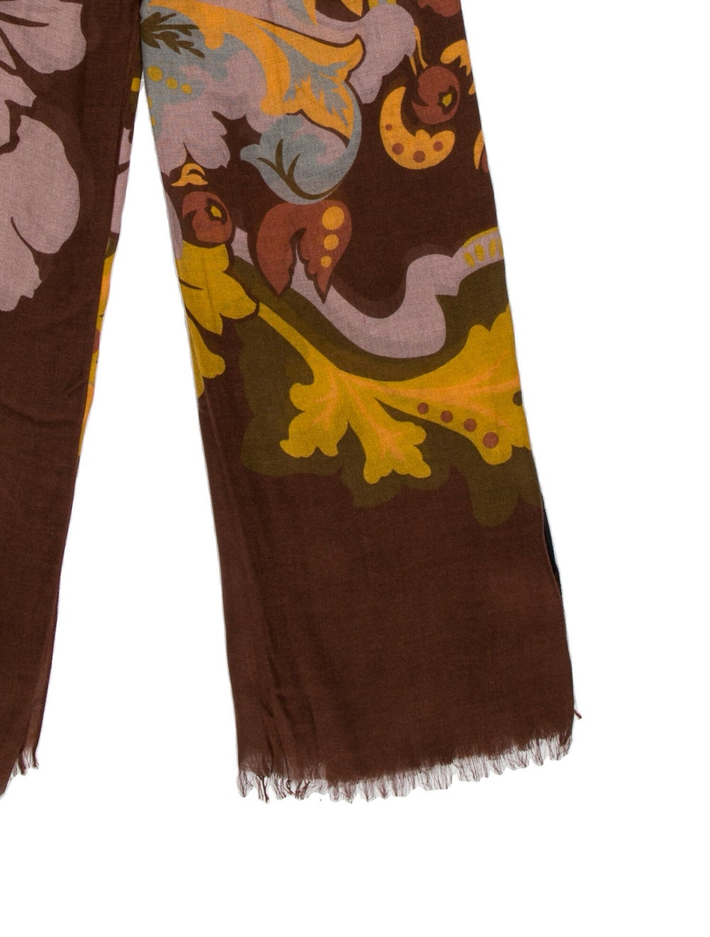 Gucci Floral 2015 Scarf w/ Tags Brown - image 2