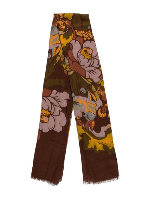 Gucci Floral 2015 Scarf w/ Tags Brown - image 1