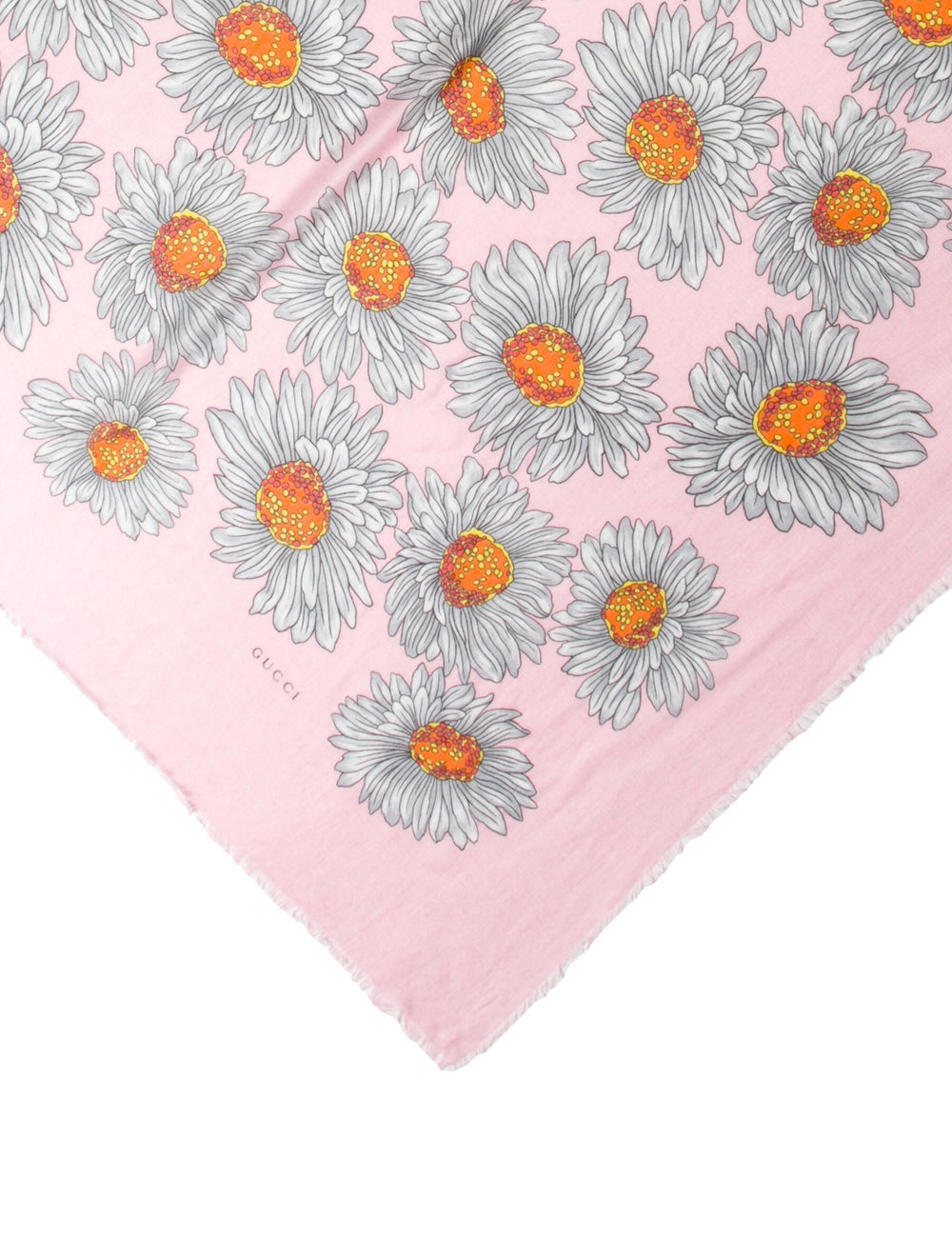 Gucci Floral Print Scarf Pink - image 2