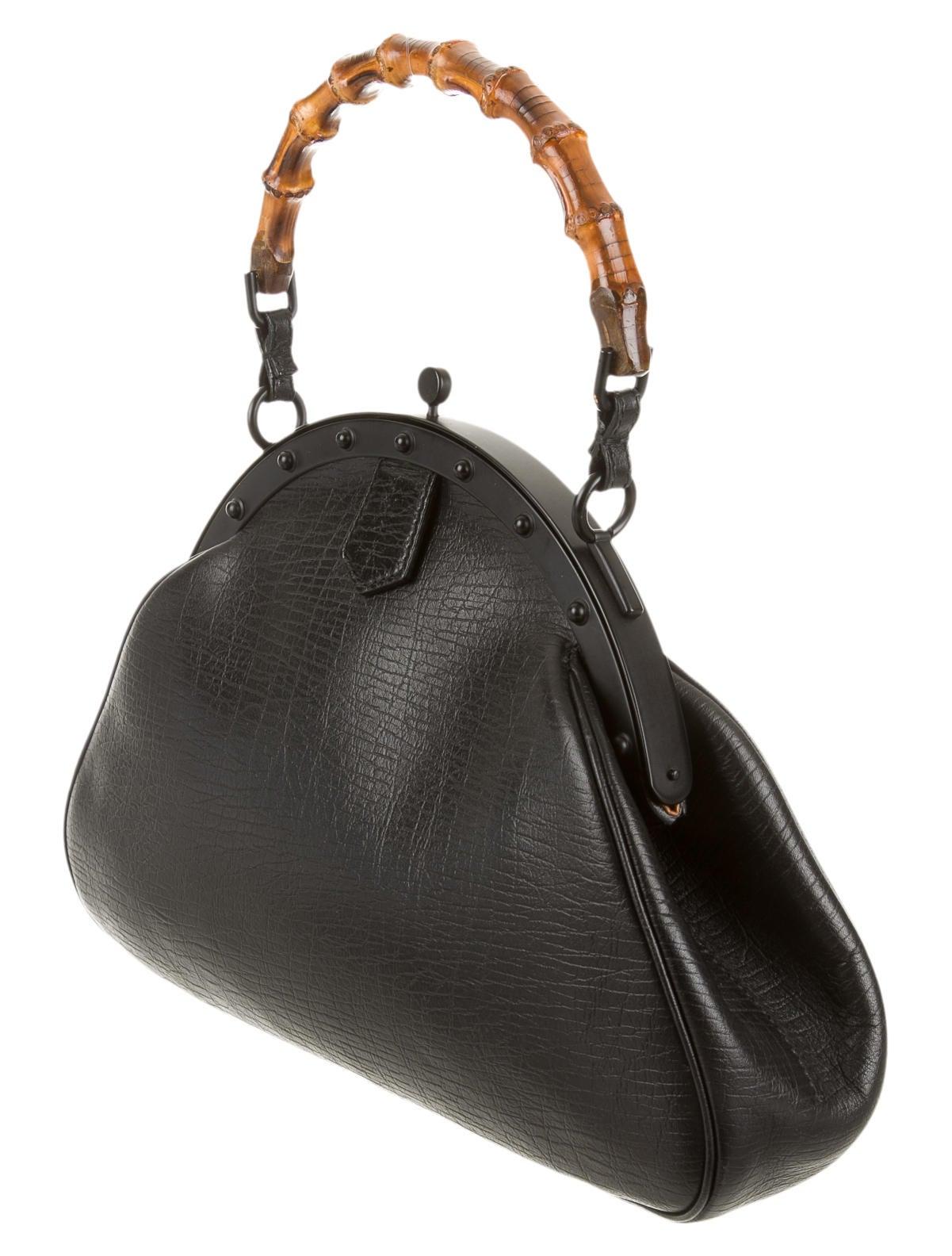 Gucci Bamboo Ring Bag Handbags Guc66182 The Realreal