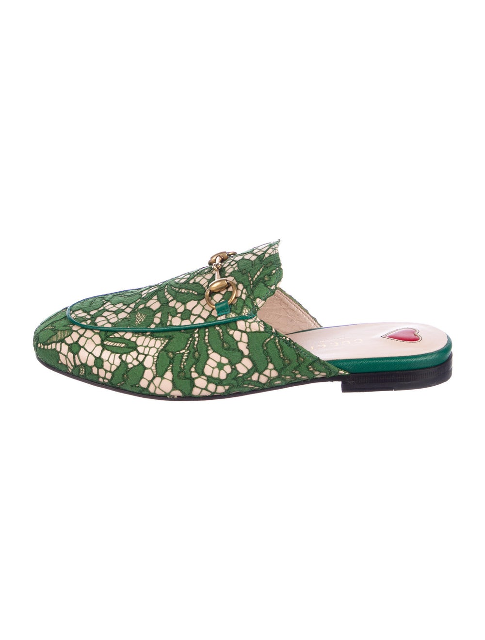 Gucci Princetown Horsebit Accent Mules Green - image 1
