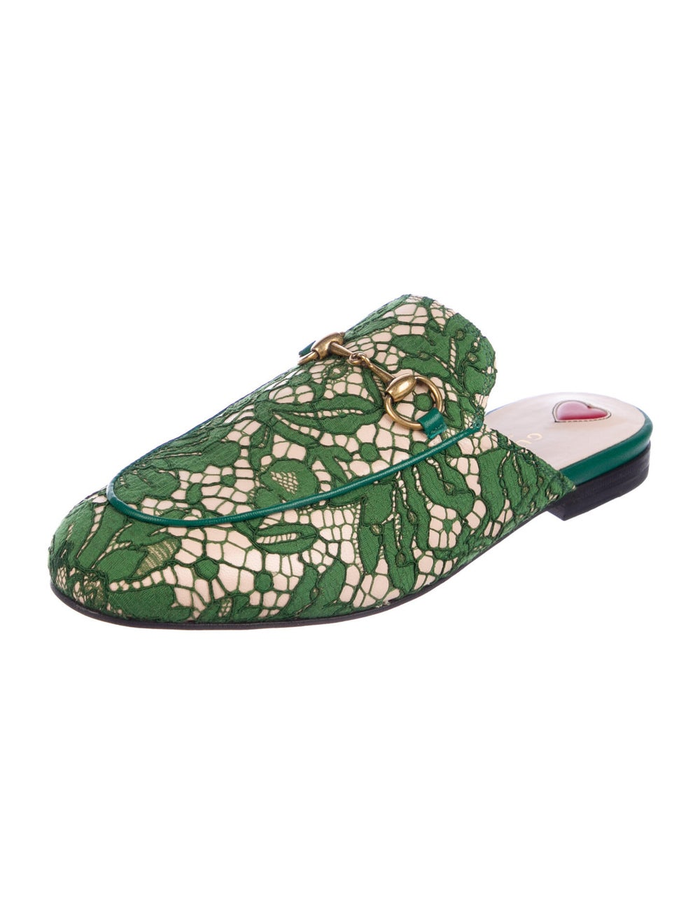 Gucci Princetown Horsebit Accent Mules Green - image 2