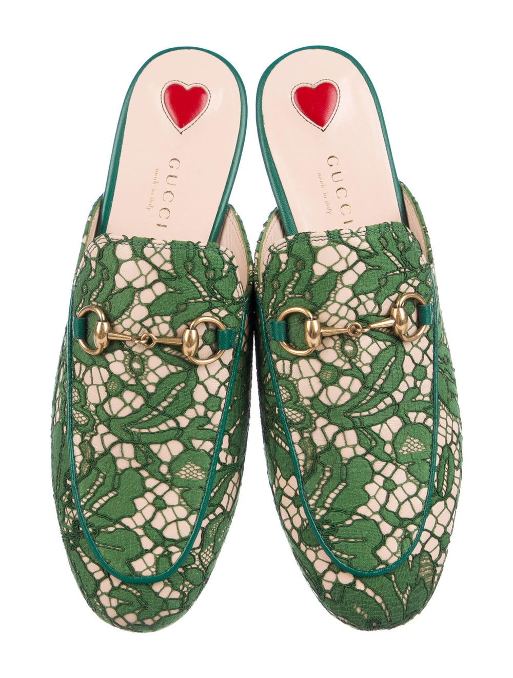 Gucci Princetown Horsebit Accent Mules Green - image 3