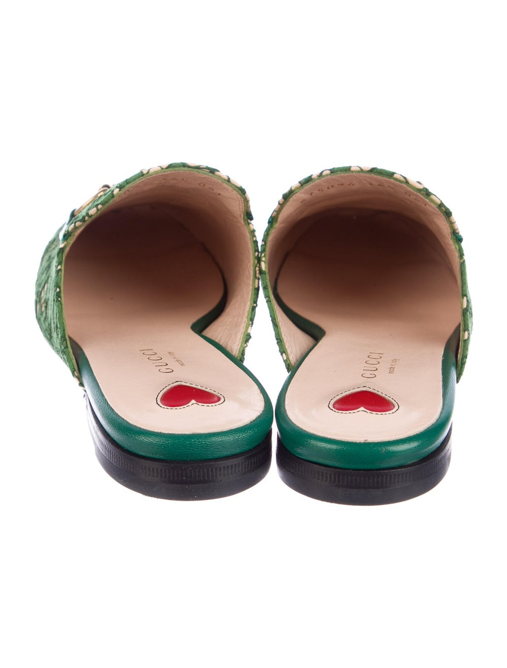 Gucci Princetown Horsebit Accent Mules Green - image 4