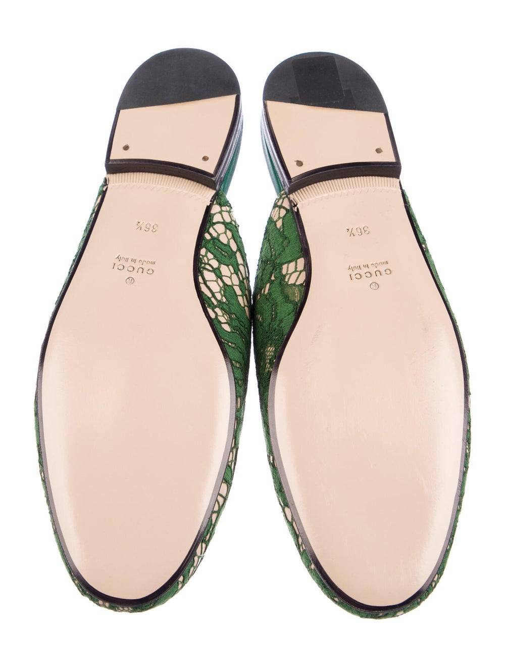 Gucci Princetown Horsebit Accent Mules Green - image 5