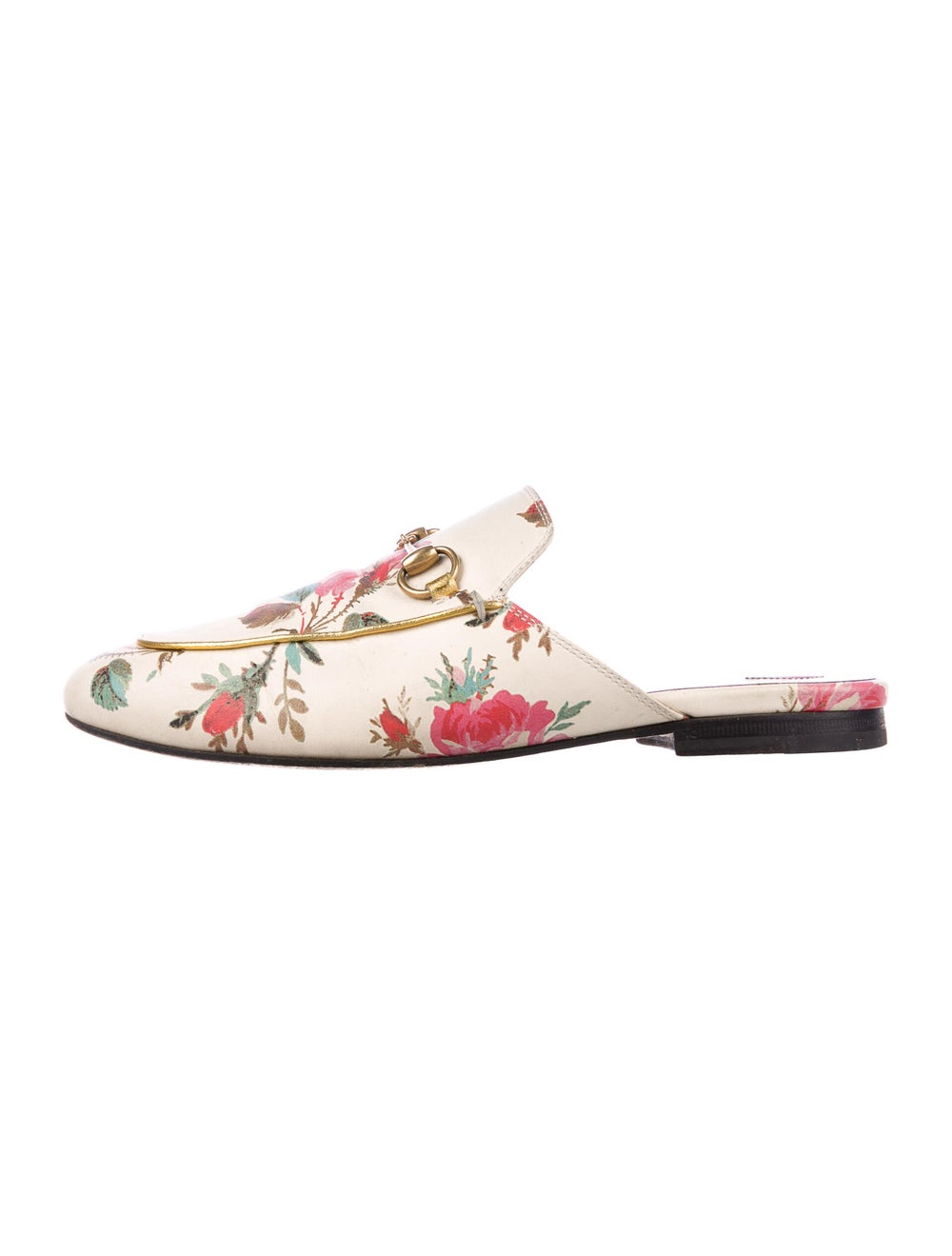 Gucci Princetown Floral Mules Leather Mules - image 1