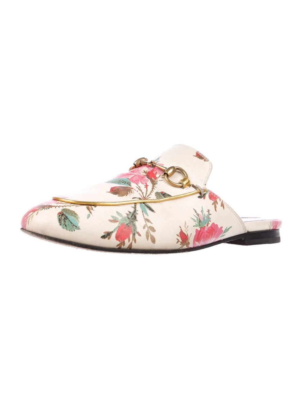 Gucci Princetown Floral Mules Leather Mules - image 2