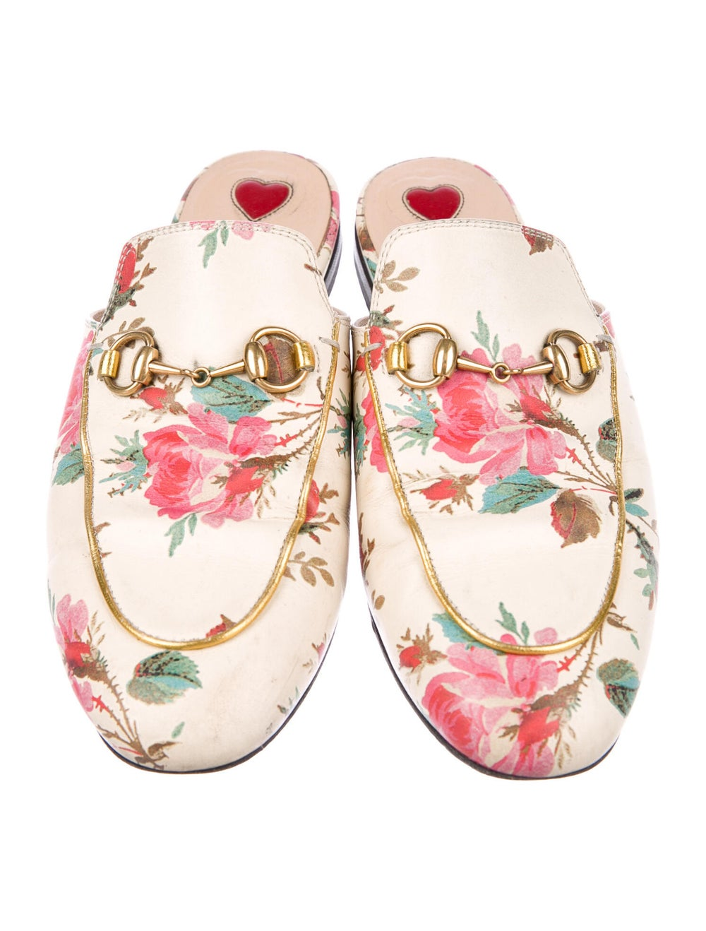 Gucci Princetown Floral Mules Leather Mules - image 3