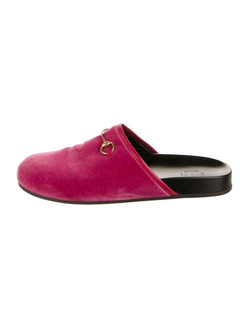 Gucci Horsebit Accent Mules Pink - image 1