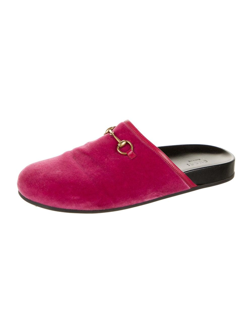 Gucci Horsebit Accent Mules Pink - image 2