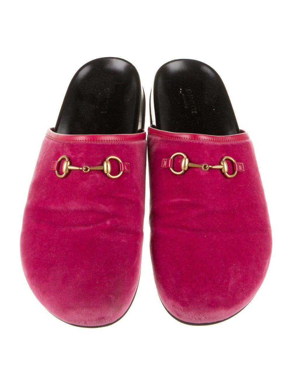 Gucci Horsebit Accent Mules Pink - image 3