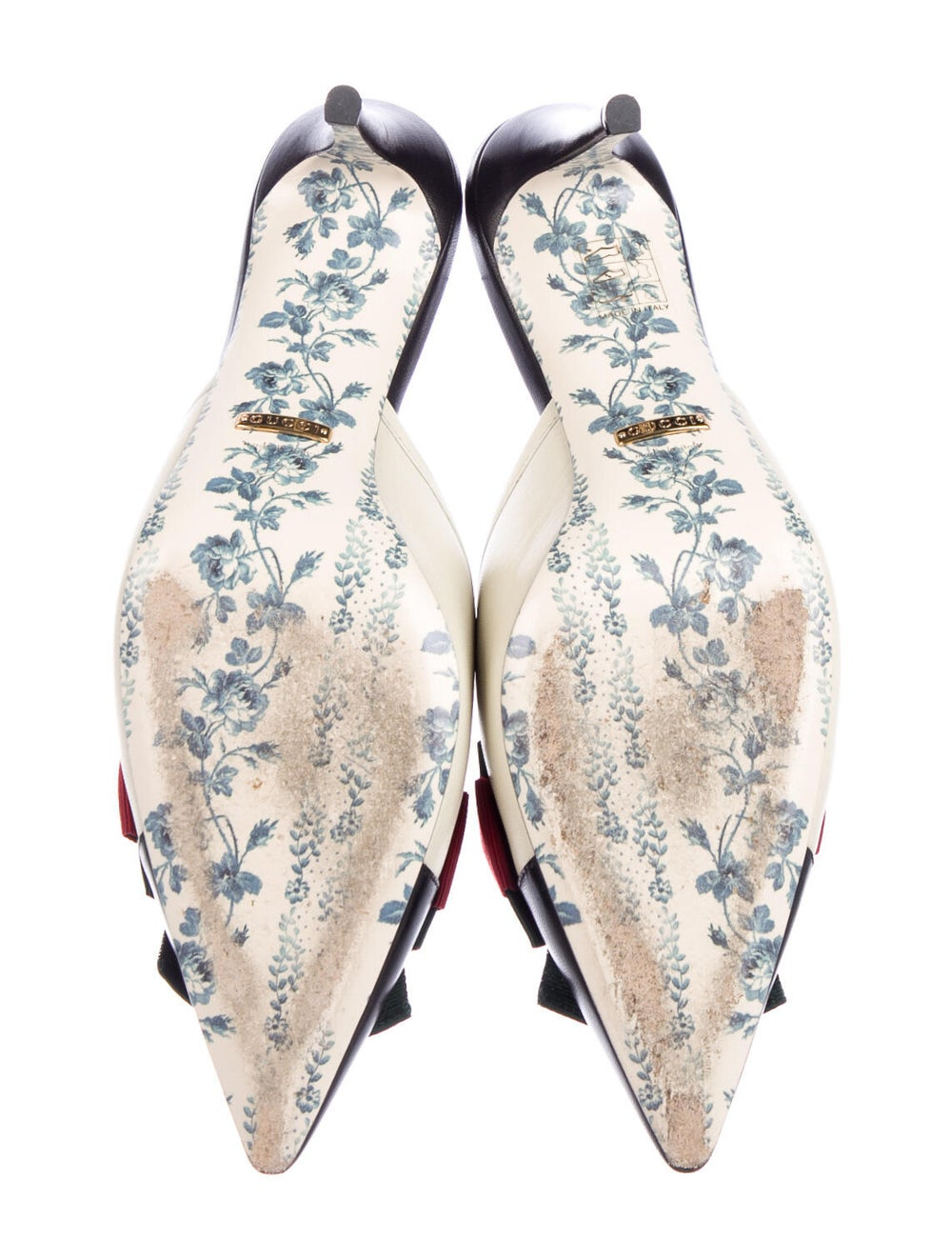 Gucci Web Accent Leather Mules - image 5