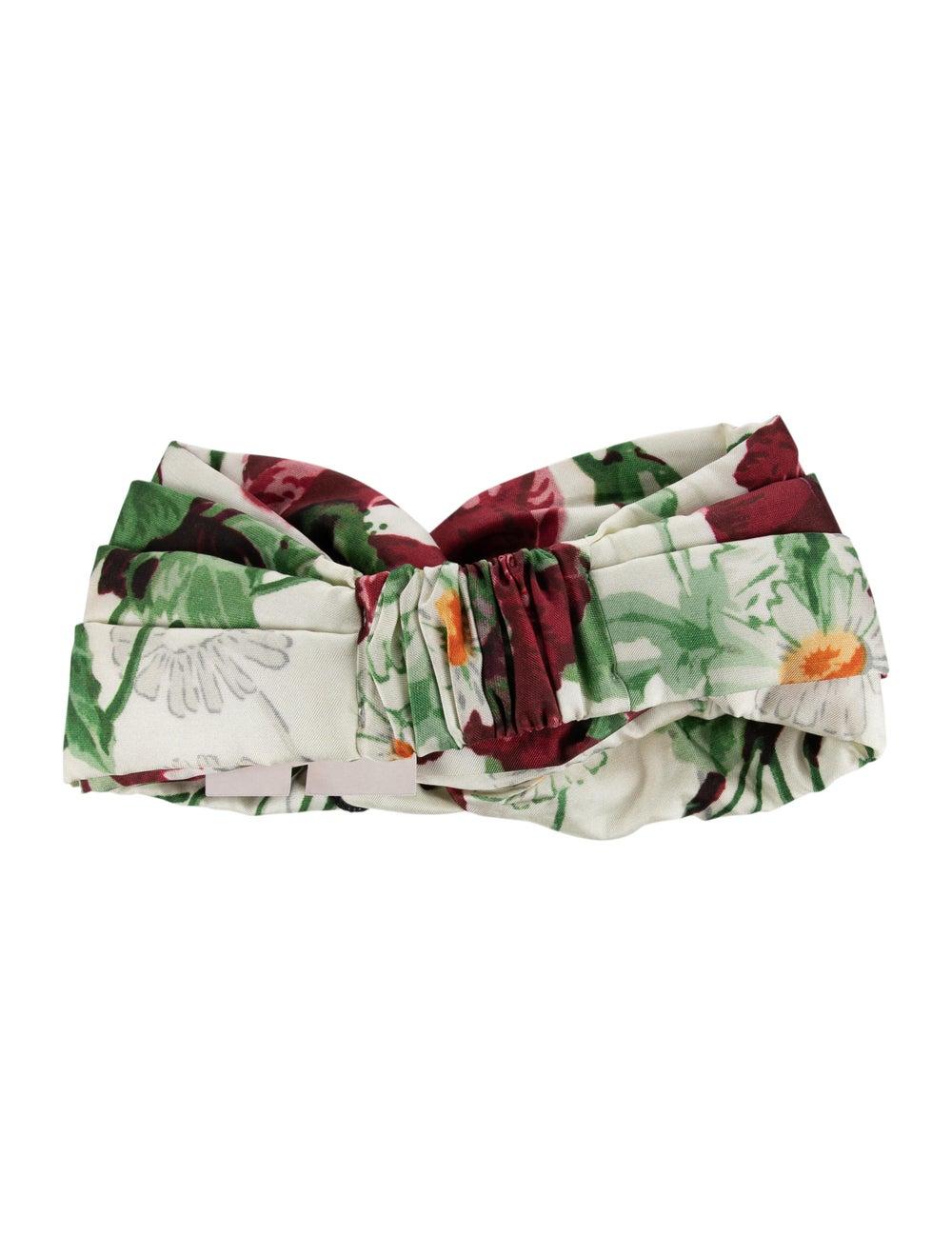 Gucci Silk Floral Headband w/ Tags multicolor - image 2