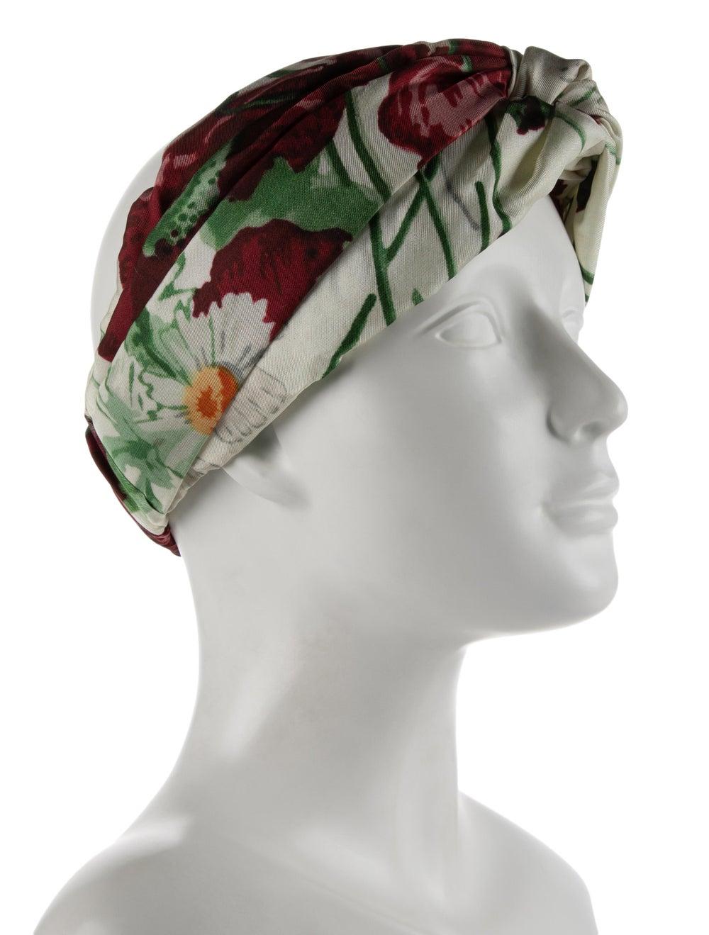 Gucci Silk Floral Headband w/ Tags multicolor - image 3