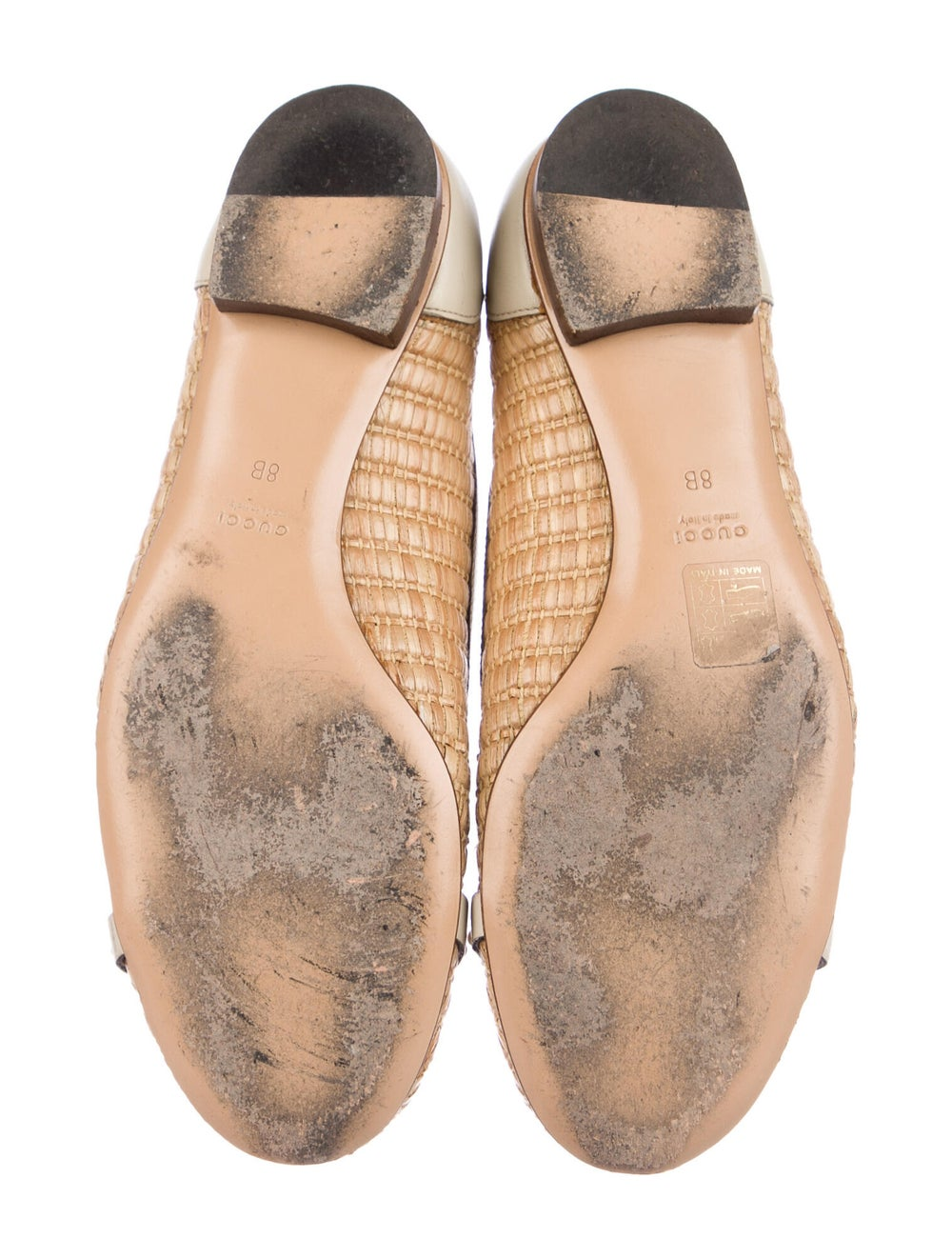 Gucci Horsebit Accent Colorblock Pattern Ballet F… - image 5