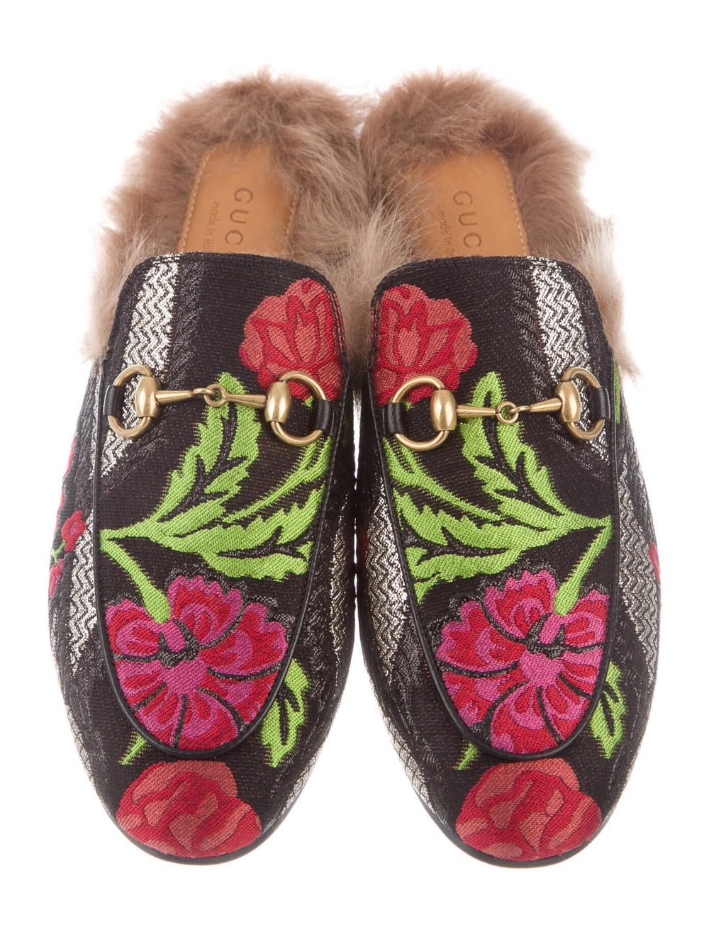 Gucci Princetown Floral Print Mules Black - image 3