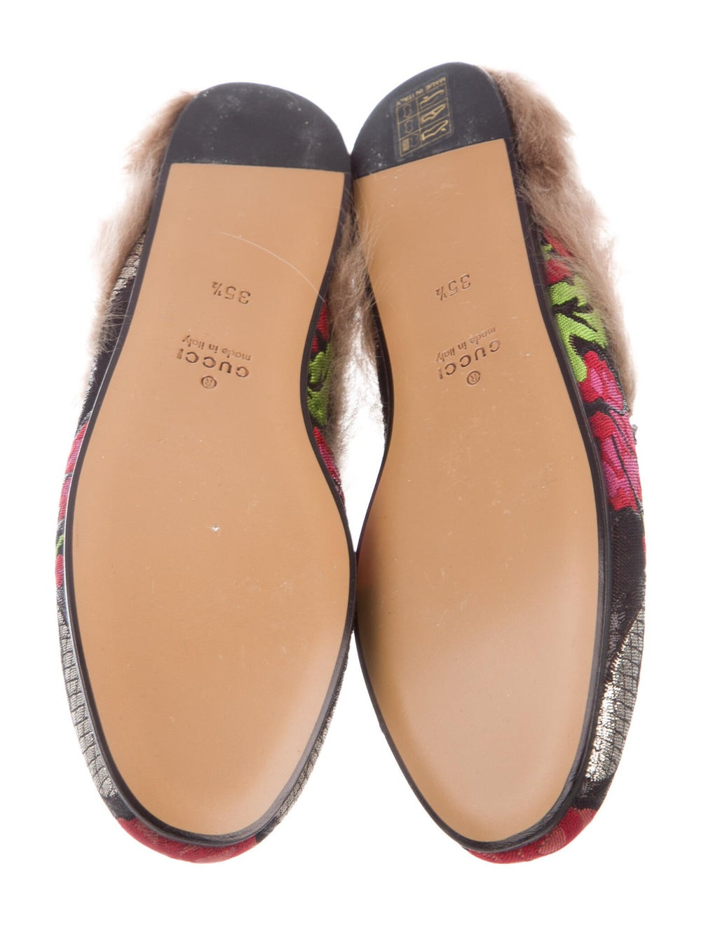 Gucci Princetown Floral Print Mules Black - image 5