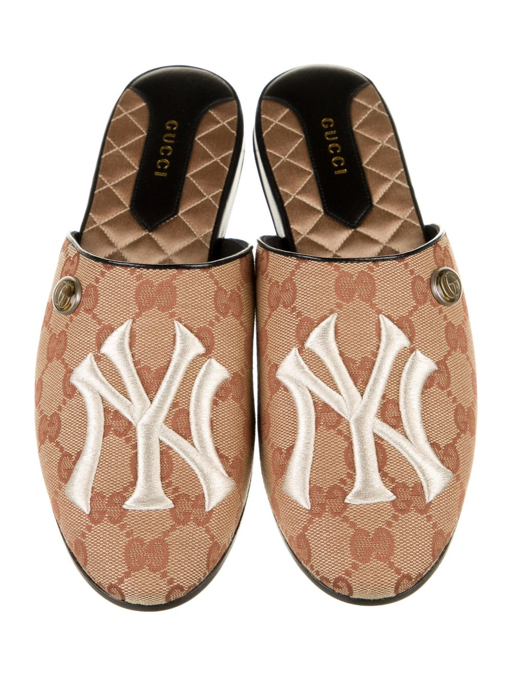 Gucci NY Yankees GG Canvas Mules w/ Tags - image 3