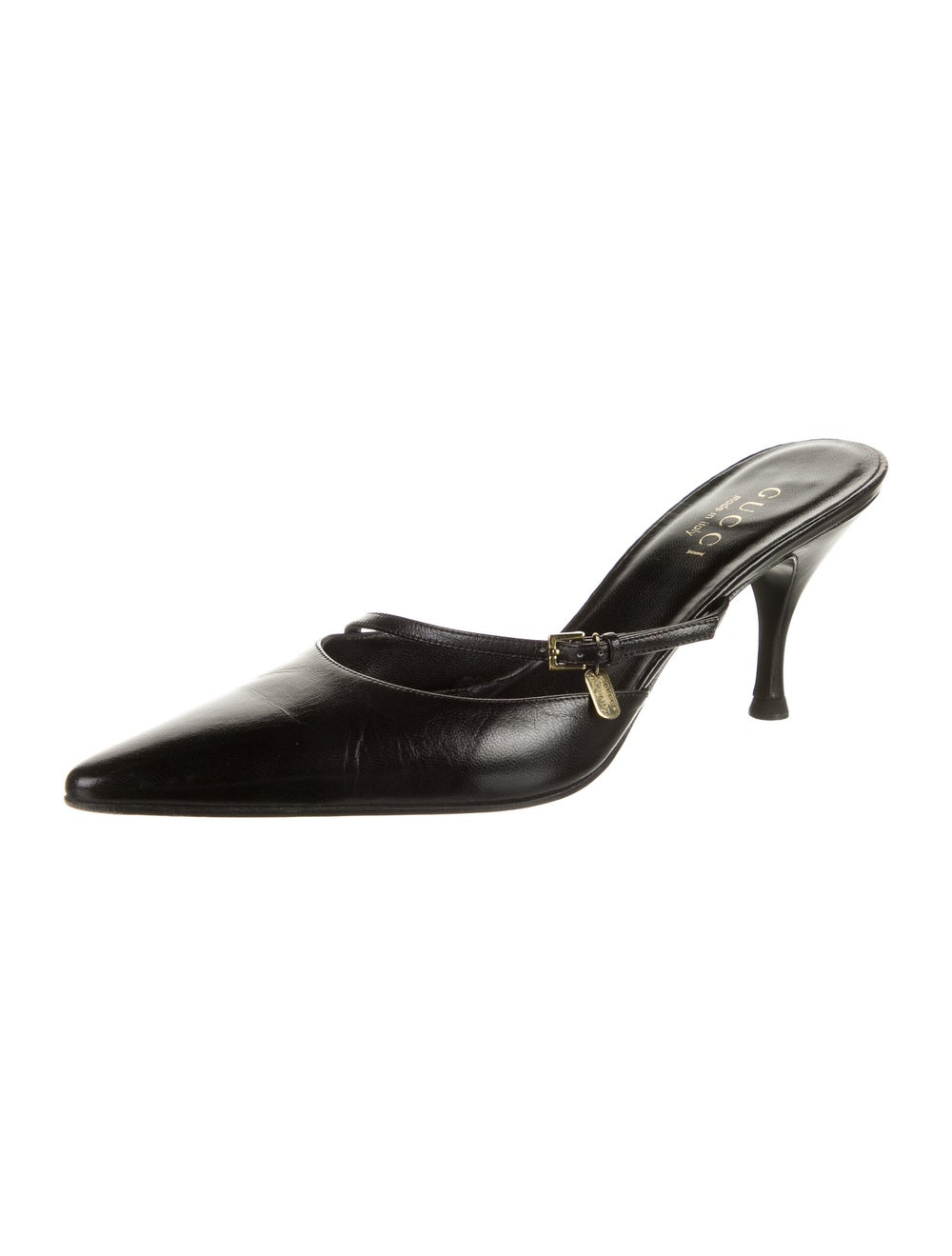 Gucci Leather Mules Black - image 2