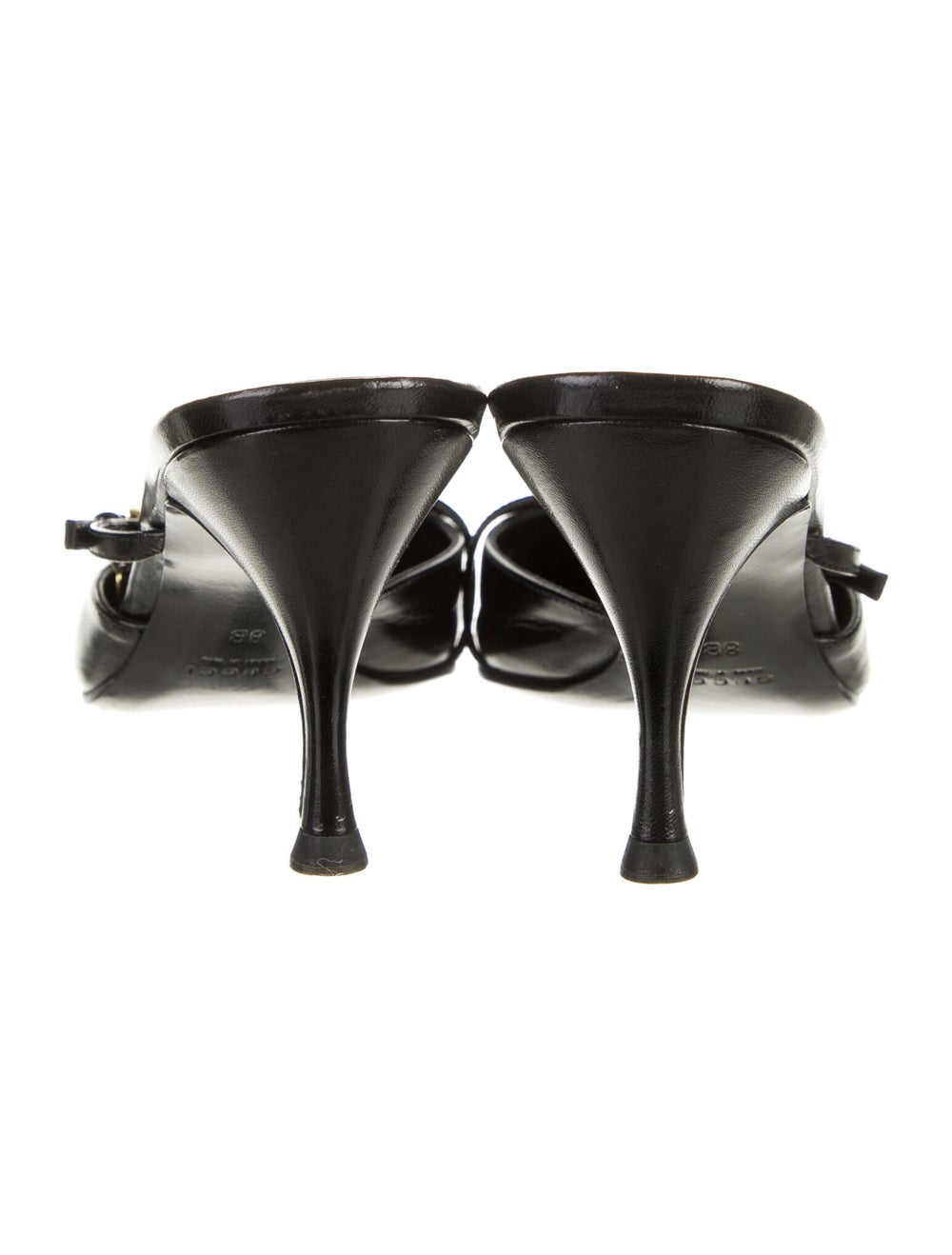 Gucci Leather Mules Black - image 4