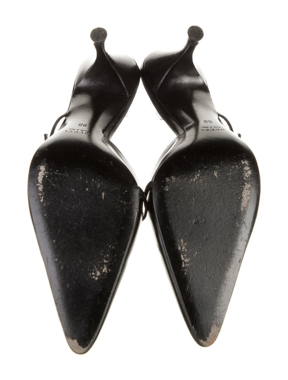 Gucci Leather Mules Black - image 5
