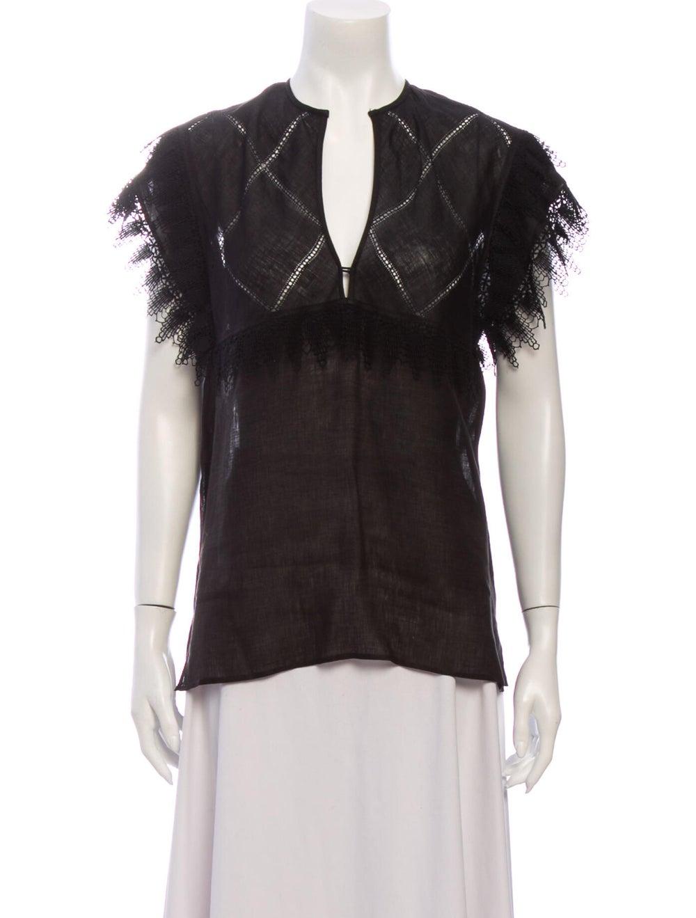 Gucci Vintage 1970's Blouse Black - image 1