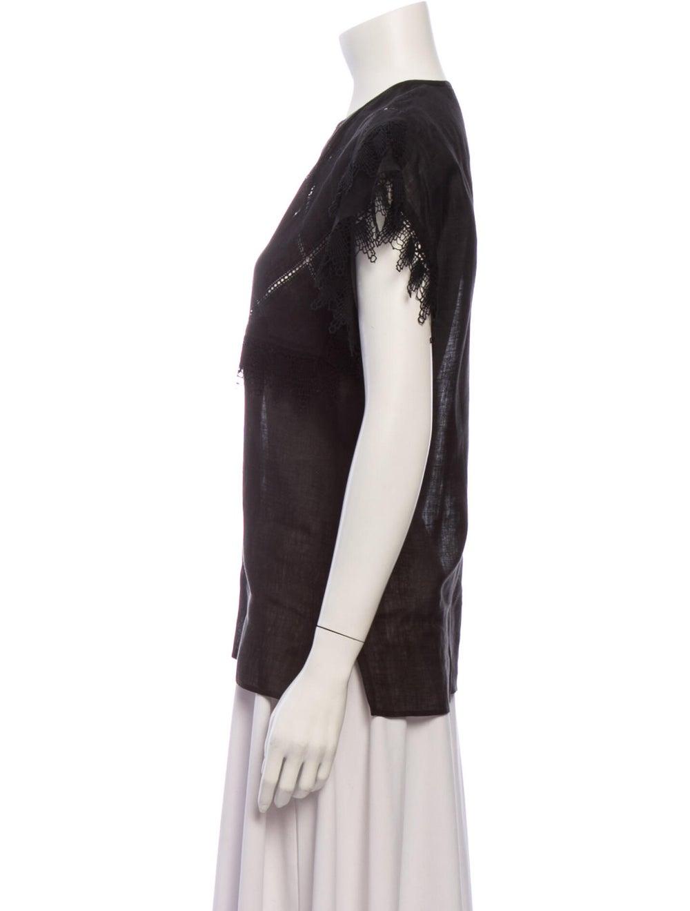 Gucci Vintage 1970's Blouse Black - image 2