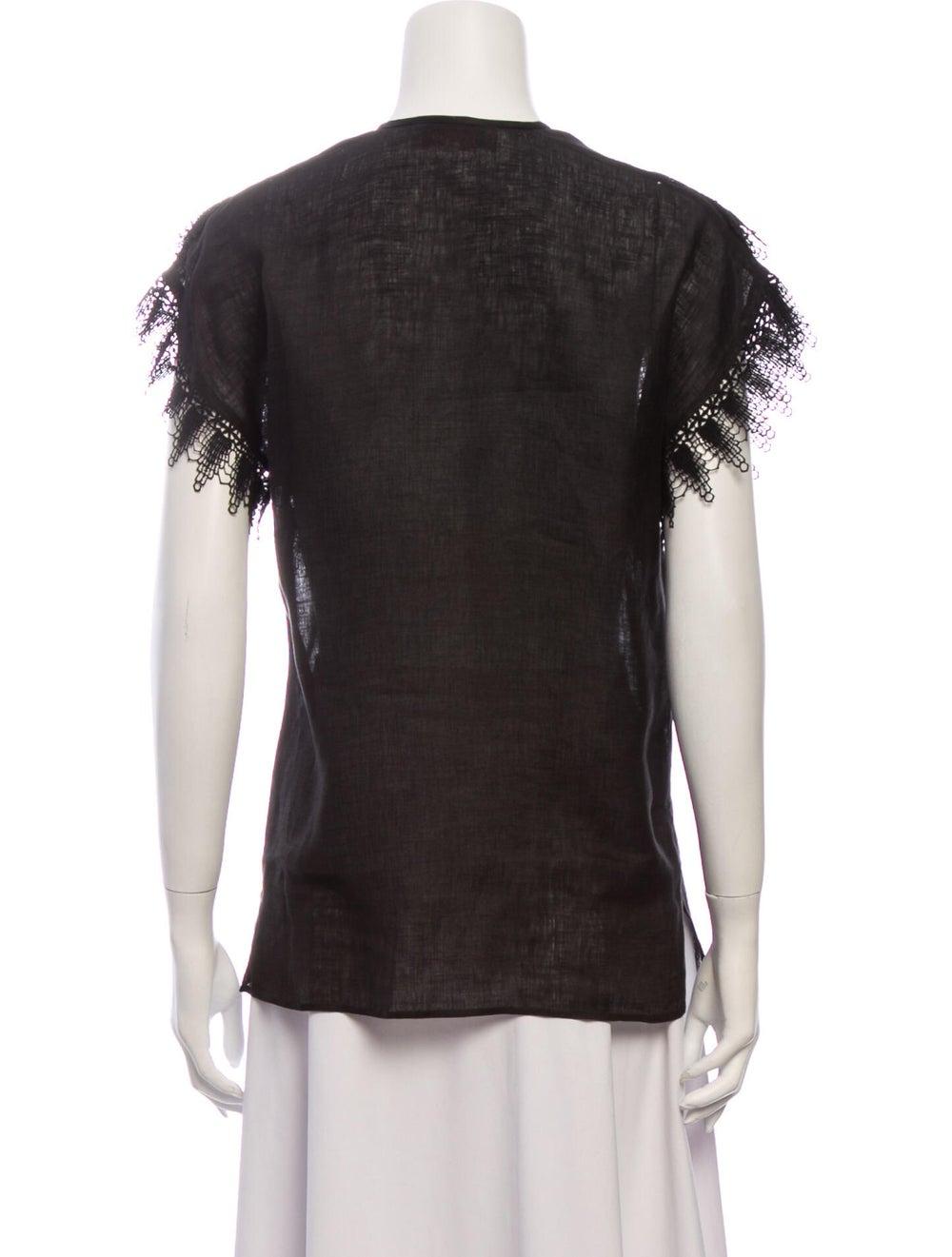 Gucci Vintage 1970's Blouse Black - image 3