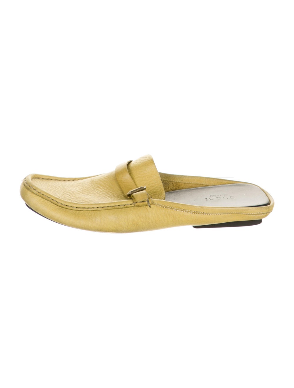 Gucci Leather Mules Yellow - image 1