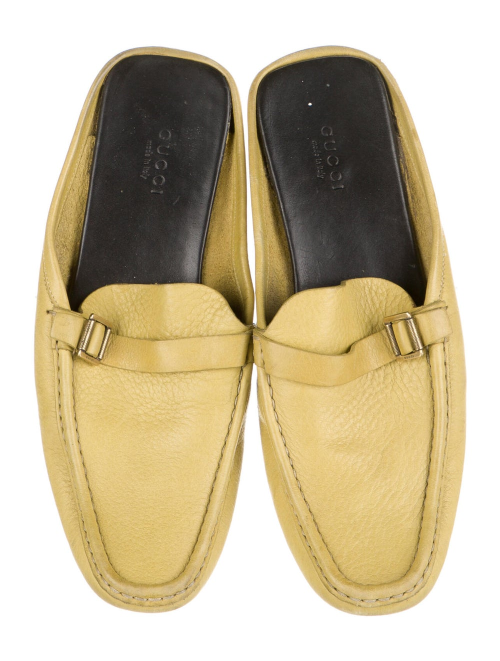 Gucci Leather Mules Yellow - image 3