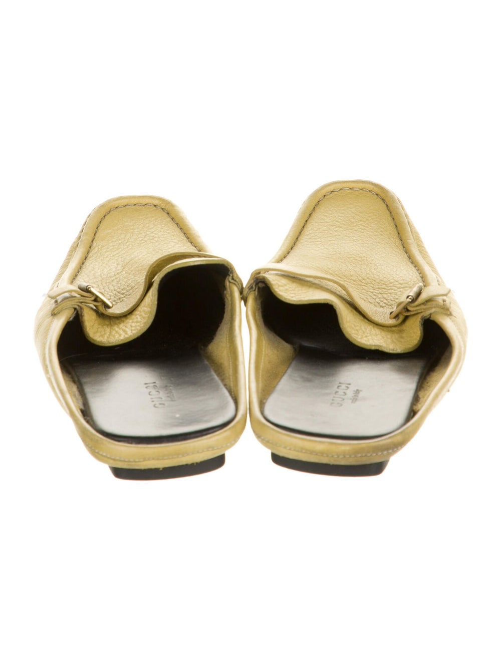 Gucci Leather Mules Yellow - image 4
