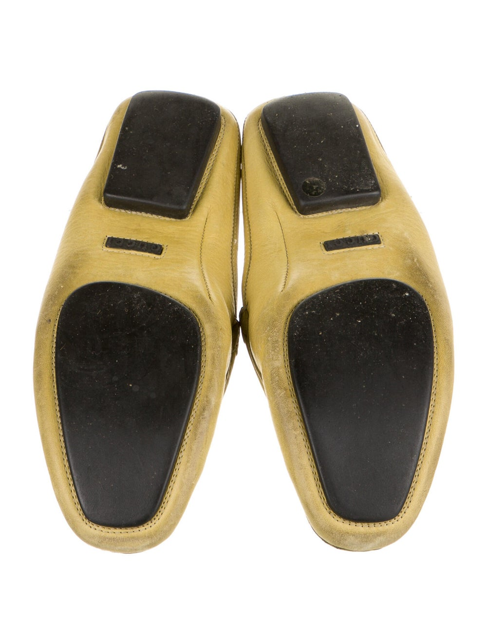 Gucci Leather Mules Yellow - image 5