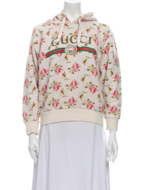 Gucci Rose Floral Print Sweatshirt Rose