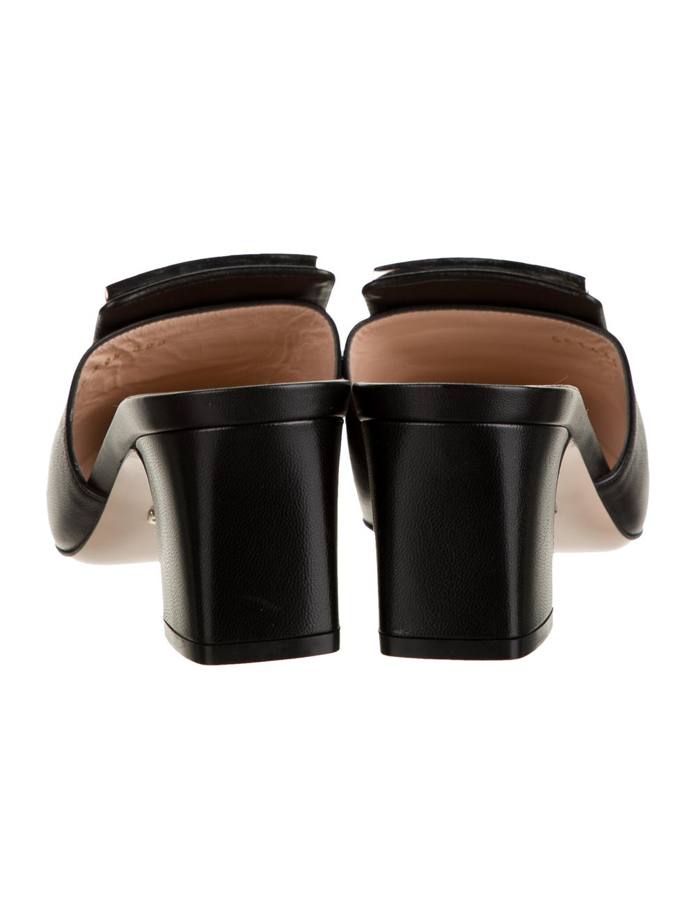 Gucci Leather Crystal Embellishments Mules Black - image 4