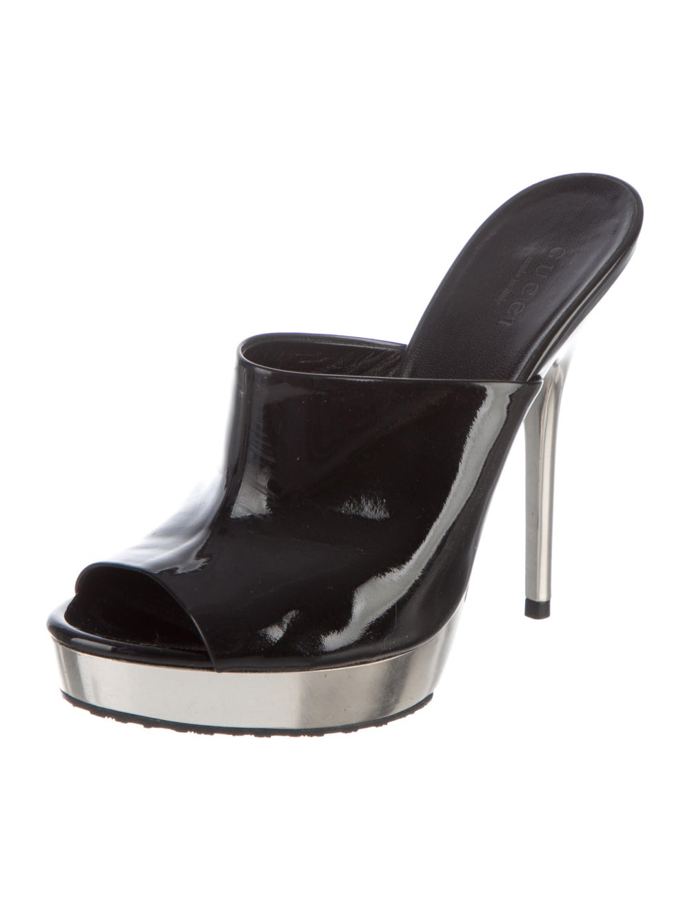 Gucci Patent Leather Mules Black - image 2