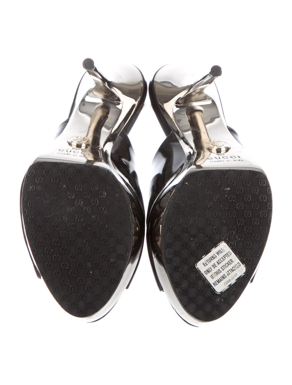 Gucci Patent Leather Mules Black - image 5