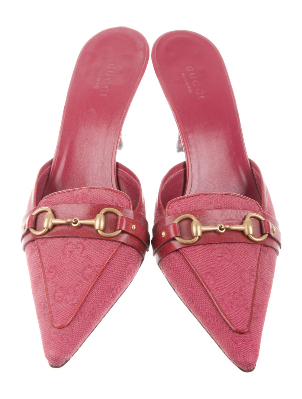 Gucci GG Canvas Mules Pink - image 3