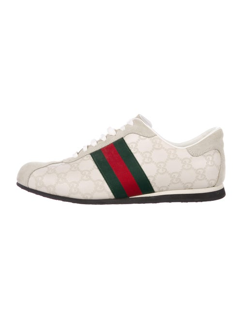 Gucci Web Accent Leather Sneakers - image 1